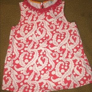 BODEN sleeveless tank top with Pom poms -size 6